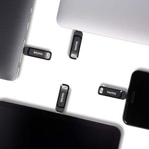 低至6.4折 €8.23收32GBSanDisk Ultra Dual Drive Go 双接口U盘热促 带Type-C接口
