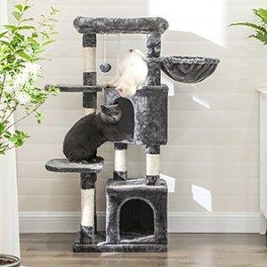 折后€49.99 喵星人的城堡Feandrea 多层猫爬架/猫树热卖 120厘米 打造猫咪小天地