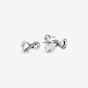 PandoraSparkling Infinity Stud Earrings