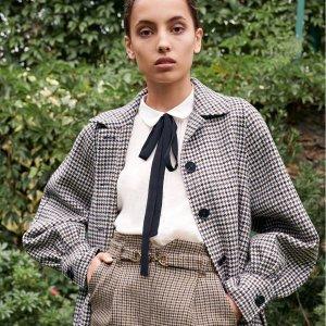 低至4折 €125收樱桃针织衫Maje 法风美衣热卖 力度堪比官网 收小香风针织外套、优雅连衣裙