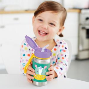 $13.79(原价$22.95)Skip Hop 儿童不锈钢吸管保温杯350ml  多款动物造型