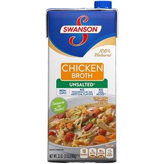 $16 (原价$23.88) 一碗鸡汤$1.3Swanson 无盐鸡汤 32oz 12盒