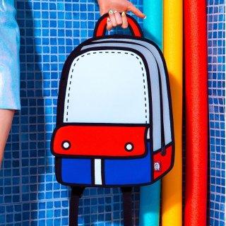 7.5折 包邮延长一天:潮牌 Jump From Paper 儿童背包,2D风格超抢镜