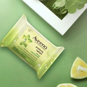 $4.57(原价$10.98)Aveeno 天然大豆系列卸妆巾25片特卖 温和卸妆首选