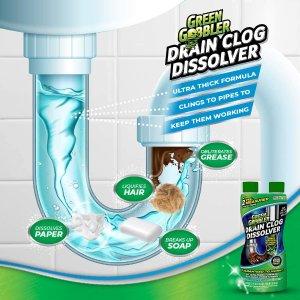 $13.98(原价$19.99)Green Gobbler 通渠水 厨房、厕所管道清洁 轻松冲走毛发油脂