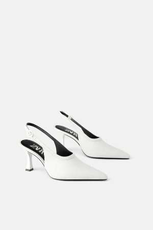 SLINGBACK LEATHER HEELS - View all-SHOES-WOMAN | ZARA United States