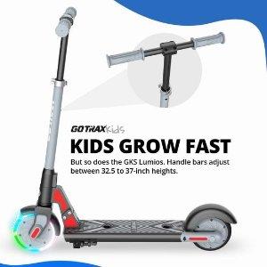 $181.99(原价$259.99) 4色可选史低价:新品 GOTRAX GKS LUMIOS 发光前轮 儿童电动滑板车