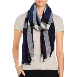 BurberryCheck Print Wool & Cashmere 围巾