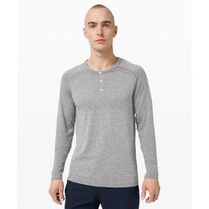LululemonMetal Vent Tech Long Sleeve Henley | Men's Long Sleeve Tops | lululemon