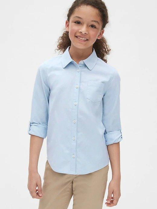 儿童长袖衬衫