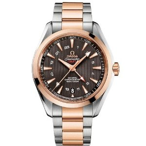 Extra $500 OffOMEGA Seamaster Aqua Terra GMT Automatic Men's Watch 23120432206003