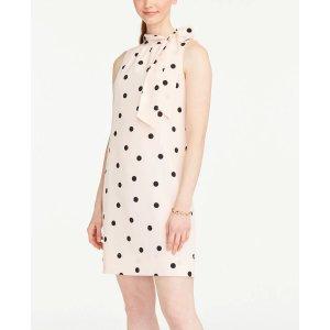 Ann TaylorPolka Dot Bow Neck Shift Dress