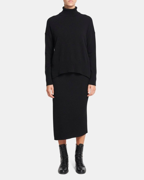 羊绒毛衣裙