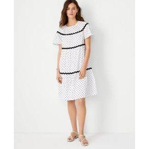 Ann TaylorClip Dot Trimmed Shift Dress | Ann Taylor