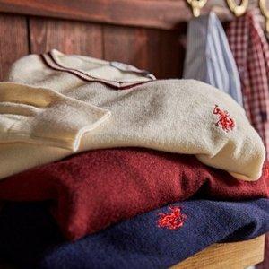 低至5折 再减$5独家:US Polo Assn.官网 精选女士毛衣反季热卖