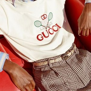 无门槛8.5折 $461收经典双G腰带Gucci 配饰好折扣 腰带、太阳镜弄潮儿必备