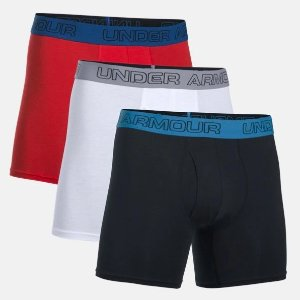 "3 For $20Charged Cotton® Stretch 6"" Boxerjock® – 3-Pack"