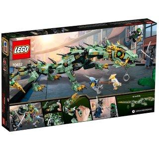 $31.99(原价$49.99)LEGO 旋风忍者大电影 绿忍者机械巨龙 套件(544颗粒)