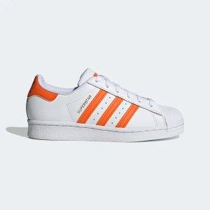 Adidas橙色Superstar大童款