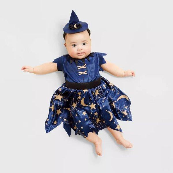 儿童万圣节服饰 宝宝可爱小女巫
