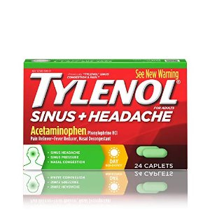$5.18Tylenol 抗过敏药 通鼻塞、缓解头痛 24粒