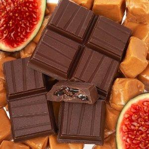 Dylan's Candy Bar Gold Collection Bar- Caramel Fig Filled Dark Chocolate