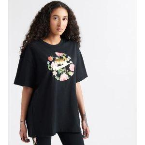 d2bd08c67ca98 Nike Boyfriend Floral Foamposite Tee (Black) - CI3127-010   Jimmy Jazz