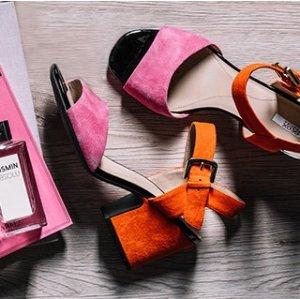 $70GEOX MARILYSE Suede Sandals
