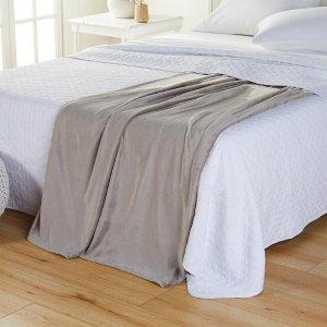 $25封顶 封面款$10.95HSN 床上用促销专场,鸭鸭兔兔毯$23