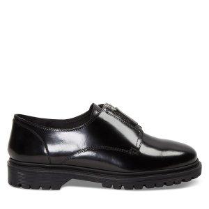 黑色乐福皮鞋