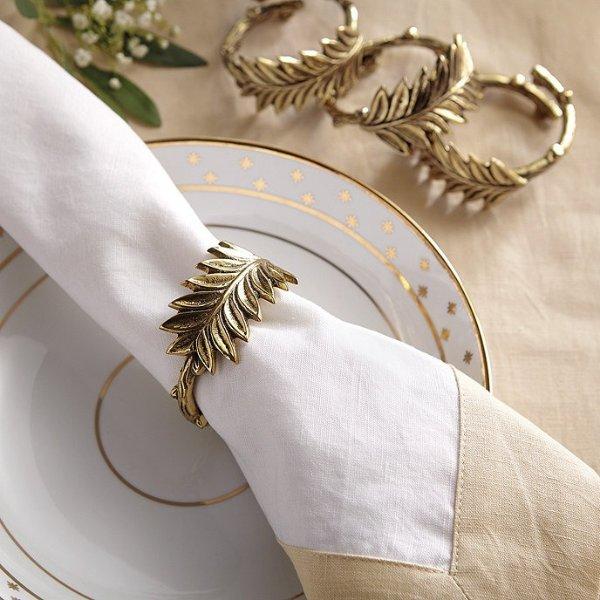 Winter Greenery 餐巾装饰品4件套