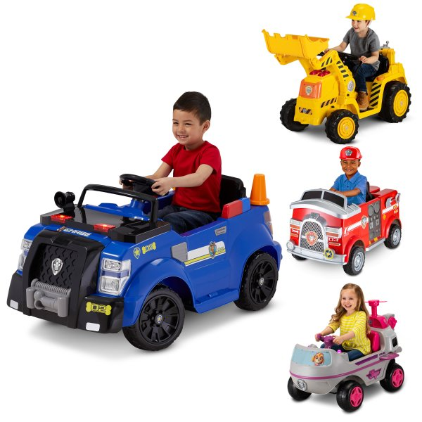 Nickelodeon Paw Patrol's Rubbles Digger 6 volt Ride On Toy By Kid Trax