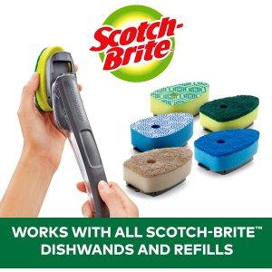 $1.87(Walmart$3.97)替换头2个Scotch-Brite 厨房刷具神器集合 解放双手 轻松洗碗锅不是梦