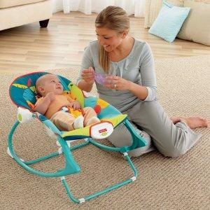 封面款史低价$24.99(原价$34.88)史低价:Fisher-Price 婴幼儿多功能轻便摇椅、睡觉椅