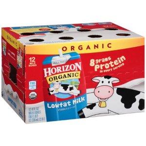 $11.94Horizon Organic 低脂有机奶 236ml 12盒