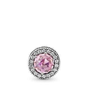 PandoraAPPRECIATION Charm, Pink & Clear CZ