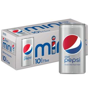 $3.96 原味10罐$3.44Diet Pepsi Soda 健怡百事可乐迷你装 7.5oz 10罐
