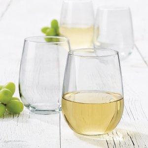 $9.99(原价$26.71)史低价:Libbey Vina 椭圆玻璃杯4件套 美国制造质量棒