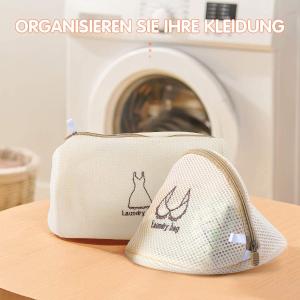 4个折后€7.07 质量超好MIMITOOU 奶油色洗衣袋 衣物不变形 不影响清洁和烘干效果