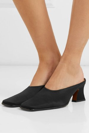 BY FAR | Kim silk-satin mules  | NET-A-PORTER.COM