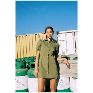 The Fifth LabelDUNE DRESS Light Khaki