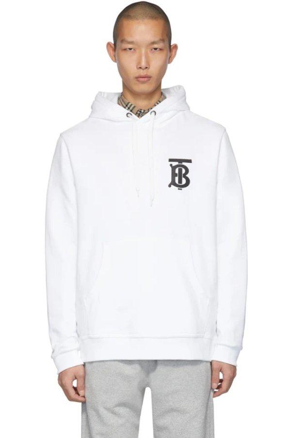 White Monogram Landon 卫衣