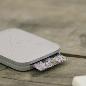 $69.99 送发光照片夹HP Sprocket 珍珠白照片打印机 将回忆记录下来