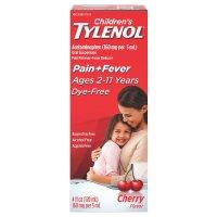 Tylenol 儿童泰诺退烧止痛糖浆,无色素,樱桃味,4oz