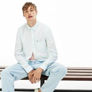 LacosteMen's Regular Fit Linen Shirt