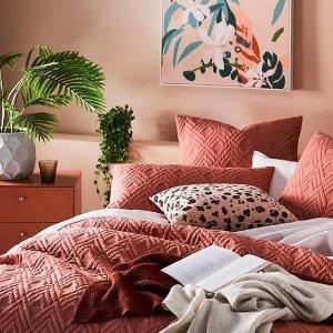 低至4折+限时免邮Adairs 精选床品、家居热卖 舒适度与高颜值并存