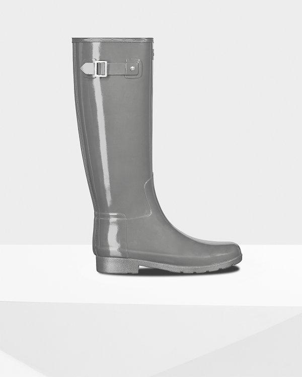 亮面长筒雨靴