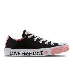 仅剩36.5码Converse 爱心低帮帆布鞋