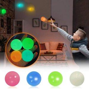 特价€8.99 躺床上也能玩Abula 夜光解压黏黏球玩具5只装热卖 火遍某音