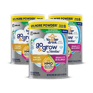 $48.71Go & Grow by Similac Non-GMO Toddler Milk-Based Drink with 2'-FL HMO for Immune Support, Powder, 36 oz, 3 Count